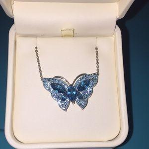 Blue/green Swarovski Butterfly necklace